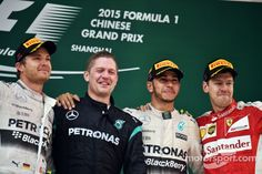 Podium Grand Prix F1 de Chine 2015