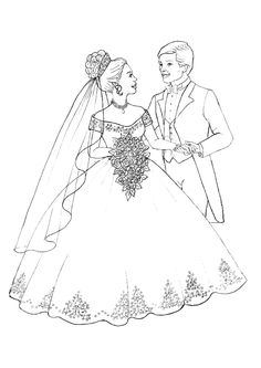 free wedding coloring pages for the kids instead of bubbles Make your world more colorful with free printable coloring pages from italks. Our free coloring pages for adults and kids. Wedding Coloring Pages, Coloring Pages For Girls, Coloring Pages To Print, Free Coloring Pages, Coloring For Kids, Printable Coloring Pages, Coloring Sheets, Coloring Books, Activities For Girls