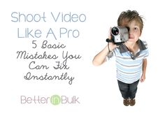 Shoot Video Like A Pro – 5 Basic Mistakes You Can Fix Instantly Photoshop Photography, Video Photography, Photography Business, Photography Ideas, Social Media Conference, Blog Websites, Engagement Shots, Photo Books, Online Video