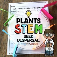 Plant Seed Dispersal STEM Activity by Carly and Adam Stem Teacher, Elementary Teacher, Stem Science, Science Inquiry, Environmental Science, Stem Activities, Writing Activities, Seed Dispersal, Stem Learning