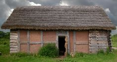 Saxon or Viking stlye building reconstructed at Bishops Wood Enviromental Centre