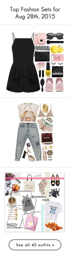 """Top Fashion Sets for Aug 28th, 2015"" by polyvore ❤ liked on Polyvore featuring Finders Keepers, adidas, Pier 1 Imports, Eos, MANGO, The New Black, The Wet Brush, Givenchy, Tommy Hilfiger and Água de Coco"