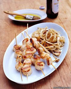 Grilled Sea Scallops and Fennel from Martha Stewart