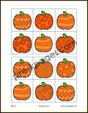 Free Printable Halloween Visual Discrimination Activity