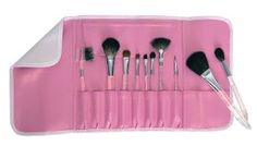 12 PC. AQUALON BEAUTY BRUSH SET by Royal & Langnickel. $84.99. This set includes: Powder Brush Blush Brush Shadow/Blender Fan Three different Eye Shadow Brushes Eyebrow/Eyeliner Lip Lip Liner Combo Eyebrow/Eyelash Comb Songe Applicator.. Makeup Brush Set. Made for jet setters who want to save space in their carry on while having quality brushes with them at all times. Featuring pure squirrel and pure sable brushes on clear acrylic handles and an easy to clean wrap pouch.
