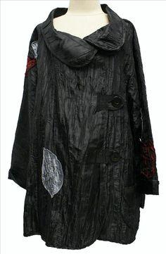 AKH Fashion Lagenlook gecrashte Jacke XXL Mode in schwarz bei modeolymp.lafeo.de