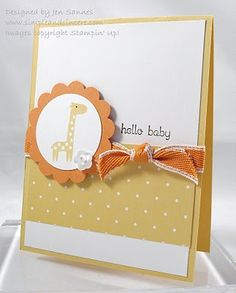 No pink in sight in this baby girl card. :)