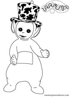 dibujos de los teletubbies para colorear y pintar para nios imprimir dibujos infantiles - Teletubbies Dipsy Coloring Pages