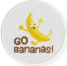 FREE for Sept 28th 2014 Only - Go Bananas Cross Stitch Pattern