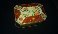 TIN,decorative,SCOTLAND,good cond,must see,ORNATE DETAIL,hinged