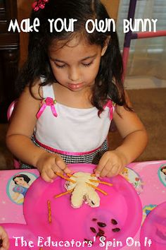 Make a simple bunny sandwich from a cookie cutter and pretzels and raisens along with a few other last minutes easter ideas.