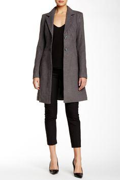 Vertigo - Notch Collar Long Sleeve Coat at Nordstrom Rack. Free Shipping on orders over $100.