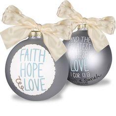 Faith Hope and Love Ornament