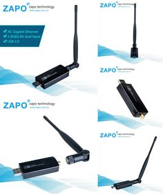 [Visit to Buy] ZAPO In stock! Stronger 1200Mbps USB adapter Network Card Wifi adapter USB Wifi antenna network adapter wifi dongle Antenna wifi #Advertisement