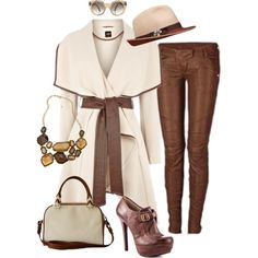 """""""cream"""" by texannette on Polyvore"""