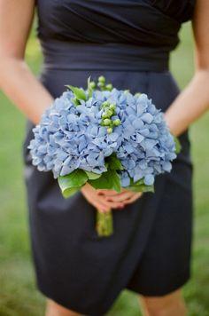 Blue bouquet wedding