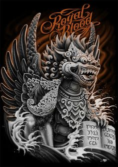 Royal Blood: Singa Ambara by Raka Siwi, via Behance