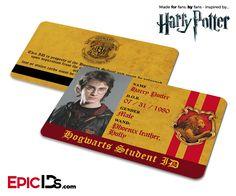 Harry Potter Inspired Hogwarts Student ID (Gryffindor) - Harry Potter
