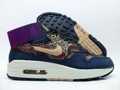 various colors 24f5d 35c4d Nike air max 1 lib qs liberty london armory navy sail sz women s 5   540855-402