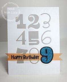 Card by PS DT Heidi Van Laar using the PS Numbers stamps and Digits dies
