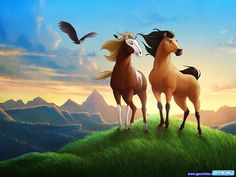 Spirit Stallion of the Cimarron - Logan's favorite movie! Anywhere that she sees it she wants to buy it.