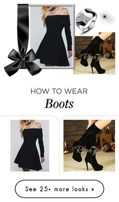 """""""Rosegal 37: All Black"""" by die-ammy on Polyvore"""