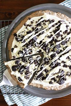 Dessert Pizza with Cookie Dough Crust