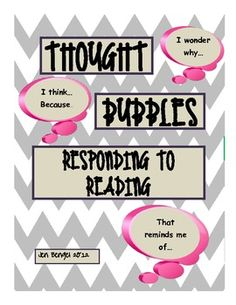 {freebie} Have your students share their thinking while they are reading with this thought bubble printable:)