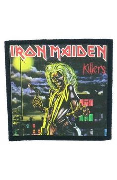 IRON MAIDEN - Killers (toppa piccola)   - misure: (larghezza 9,7 cent. - altezza 9,7 cent.)