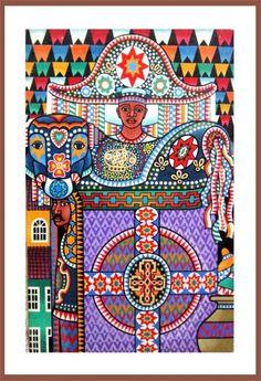 Bumba meu boi 01 - Pintura, cm por J.Abreu - Pintura contemporánea, Folclore do Noredeste do Brazil Arte Popular, Brazil Colors, Folklore, Art Inspo, Illustration, Art Gallery, Arts And Crafts, Kids Rugs, Colours