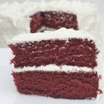 """BEST RED VELVET CAKE EVER: When the recipe describes this as the """"BEST"""" red velvet cake you will ever eat - it is seriously not lying. Don't be disturbed by the liquid-like consistency of the batter: that's what makes it so deliciously moist."""