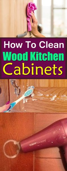 These DIYs and Ideas will help you get rid of kitchen cabinets stains and keep it clean!