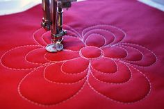 Free Motion Quilting - Flowers