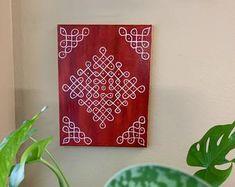 Indian Rangoli, Kolam Rangoli, Flower Rangoli, Simple Rangoli, Rangoli Painting, Worli Painting, Durga Painting, Rangoli Patterns, Rangoli Designs With Dots