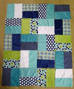 This easy Half-Square Blocks quilt is a great choice for beginners and is the perfect choice if you're working with 10-in precut fabric squa...