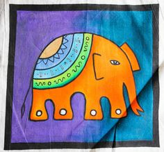 Elephant Cushion, Free Hand Drawing, Textile Art, Decorative Items, Hand Drawn, How To Draw Hands, Art Pieces, Cushions, Wall Decor