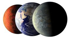 At Last, Earth-Sized Alien Worlds.  The Kepler space telescope has spied evidence of two Earth-sized worlds in a star system 950 light-years away.