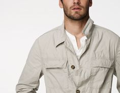 I like this Utility Shirt Jacket from James Perse