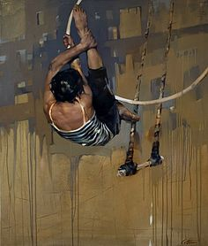 COSTA DVOREZKY, Hoop Rehearsal  2012, huile sur toile / oil on canvas