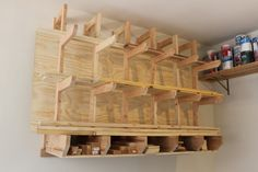 DIY Lumber Rack Stores Boards in Front and Sheet Goods in Back
