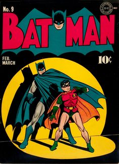 old Batman comic book cover
