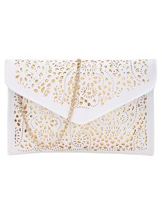 Shop Laser Cut Envelope Clutch With Chain online. SheIn offers Laser Cut Envelope Clutch With Chain & more to fit your fashionable needs.