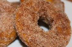 Cinnamon-Spice Pumpkin Doughnuts (baked not fried!) I had everything in my kitchen to make these. They are perfect as a snack or with your morning coffee.
