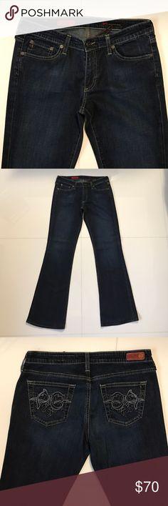 "AG the Club Jean Vintage AG. Cotton/Pu. Professionally altered with original hem. 31"" inseam. Size 29R. AG Adriano Goldschmied Jeans Flare & Wide Leg"