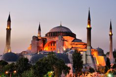 Hagia Sophia is a former Orthodox patriarchal basilica, later a mosque, and now a museum in Istanbul, Turkey. From the date of its dedication in 360 until 1453, it served as the Greek Patriarchal cathedral of Constantinople.