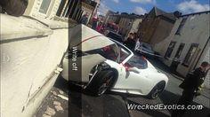 Ferrari 458 Spider crashed in Burnley lancashire Burnley Lancashire, Ferrari 458, Spider, Guy, Spiders