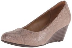 Clarks Women's Leather Brielle Chanel Wedge Pump >>> Find out more details @