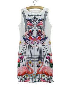 2015 Novelty vintage leopard print dress women vestido American & European fashion design patchwork slim dresses free shipping