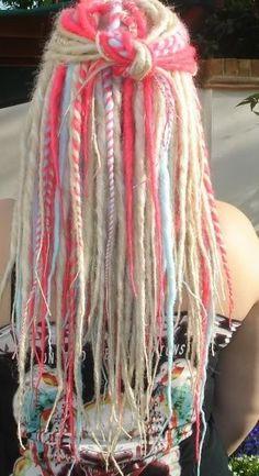 yarn dread ponytails - Google Search