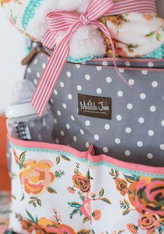 Over the Moon baby diaper bag - Matilda Jane Clothing Trunk Keeper #2941 JoAnna Kirk